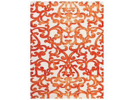 Amer Rugs Shibori White & Orange Rectangular Area Rug