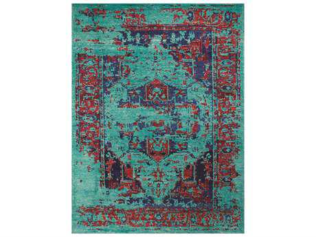 Amer Rugs Silkshine Rectangular Turquoise Area Rug