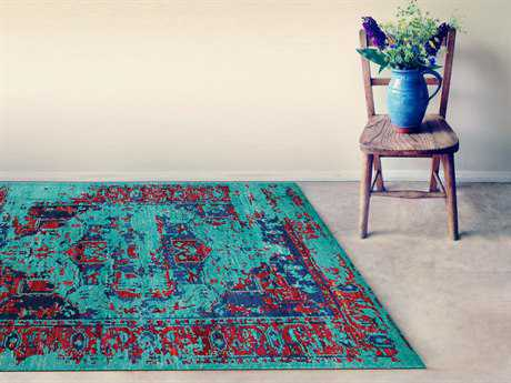 Amer Rugs Silkshine Turquoise Rectangular Area Rug