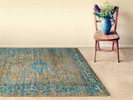 Amer Rugs Silkshine Gold Rectangular Area Rug