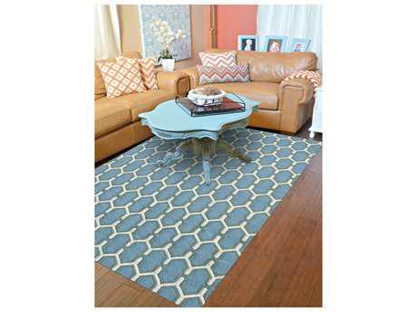 Amer Rugs Zara Sky Blue Rectangular Area Rug