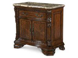 A.R.T. Furniture Old World 37 x 19.5 Rectangular Stone Top Door Nightstand