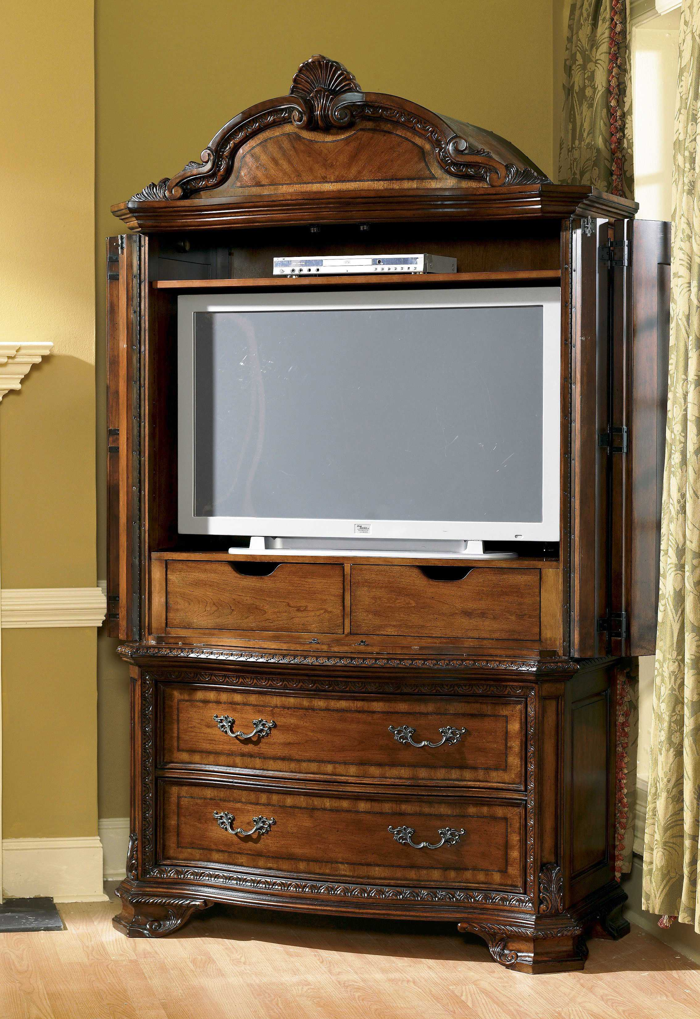 A r t furniture old world armoire at1431602606 for Old world furniture