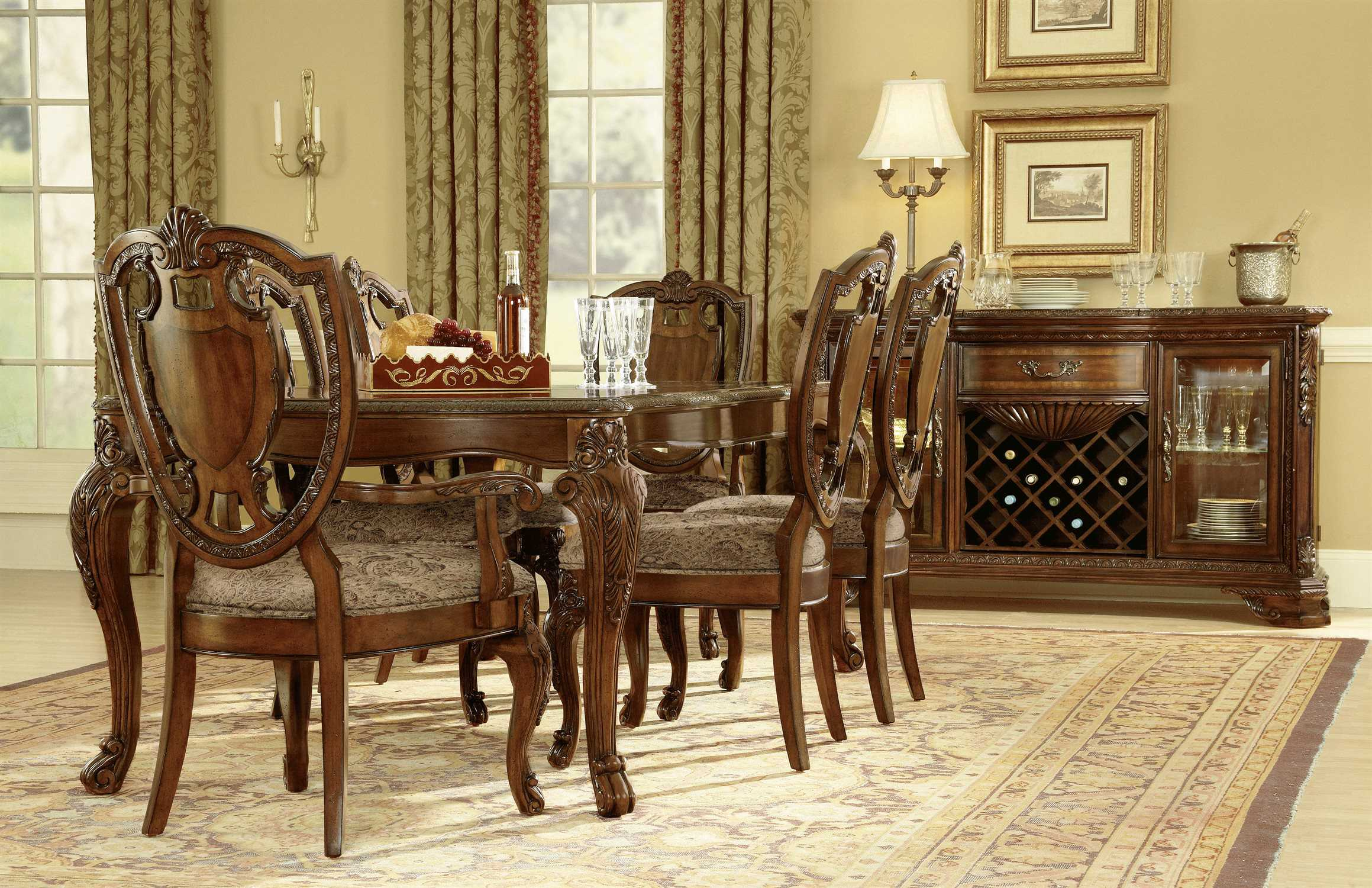 A r t furniture old world dining set at1432202606set for Dining room t