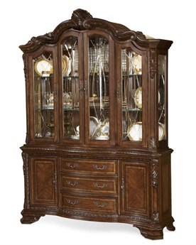 A.R.T. Furniture Old World Pomegranate China Cabinet Deck