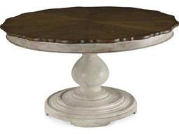 A.R.T. Furniture Belmar White 79'' Wide Round Dining Table