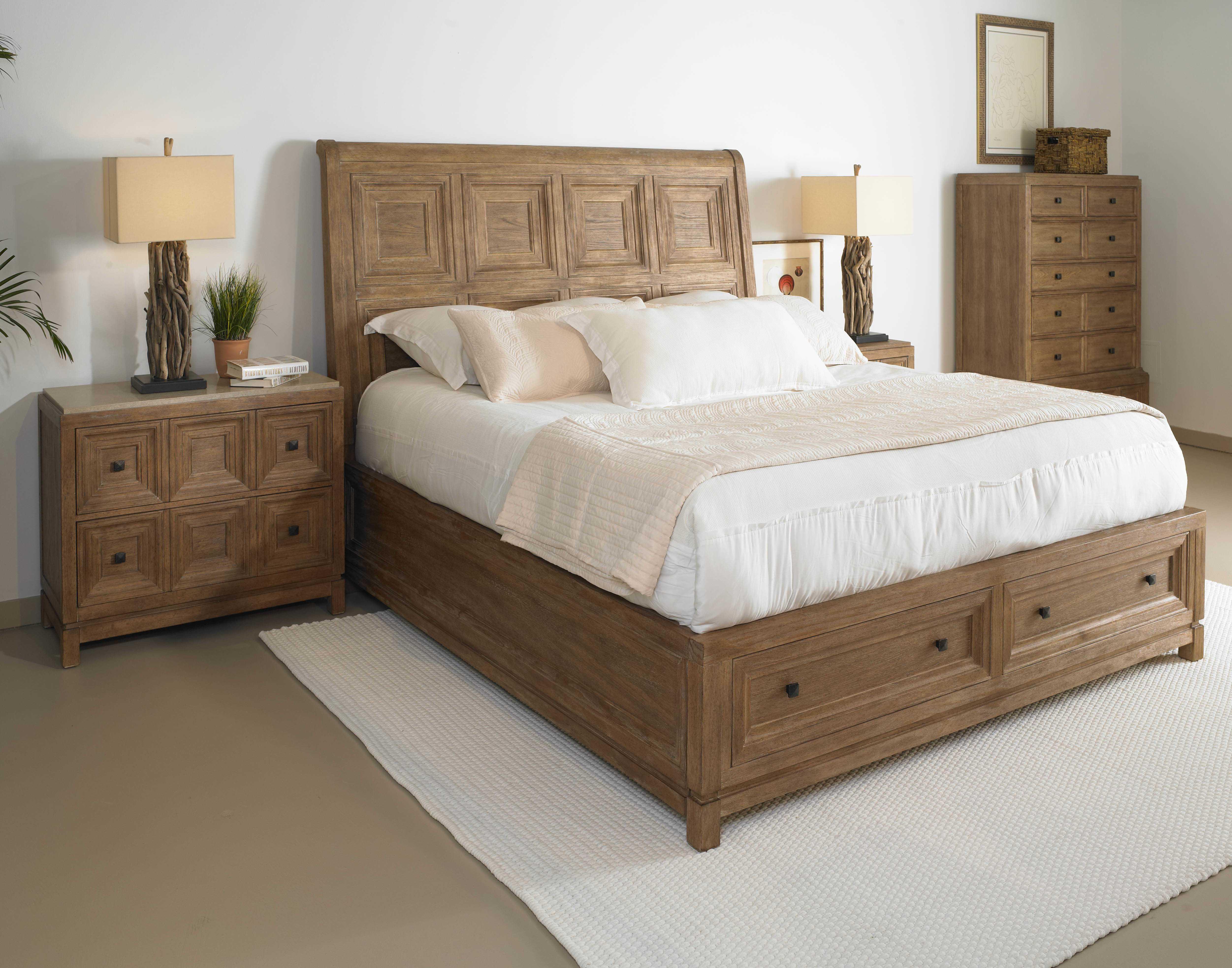 A r t furniture ventura queen platform bed at