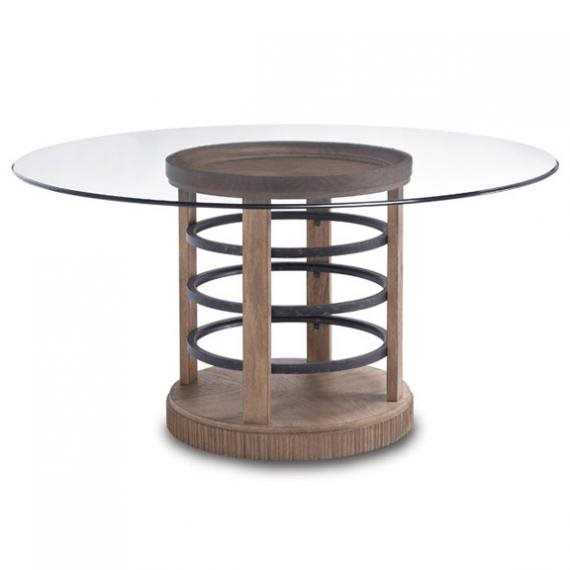 A r t furniture ventura 60 round glass dining table for A r t dining table