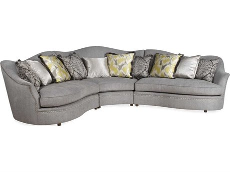 A.R.T. Furniture Cotswold Sterling with Rustic Pine Sectional Sofa
