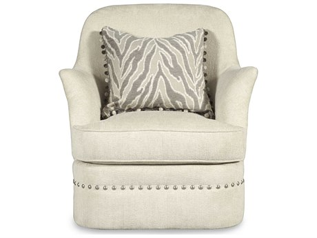A.R.T. Furniture Amanda Ivory Cotswold Swivel Accent Chair