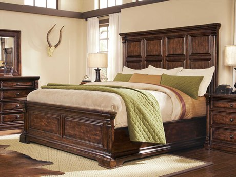 A.R.T. Furniture Whiskey Oak Queen Panel Bed