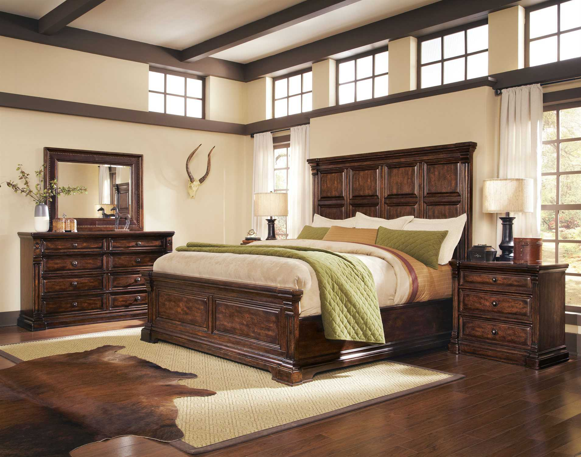 A R T Furniture Whiskey Oak Bedroom Set At2051252304set