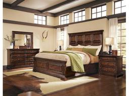 A.R.T. Furniture Whiskey Oak King Panel Bed
