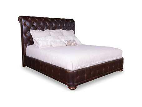 A.R.T. Furniture Whiskey Oak Upholstered King Platform Bed