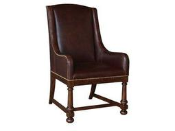 A.R.T. Furniture Whiskey Oak Leather Dining Arm Chair (Sold in 2)