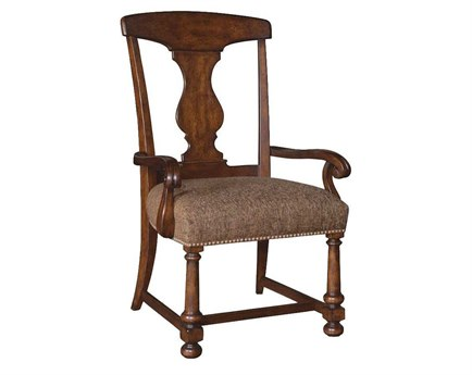 A.R.T. Furniture Whiskey Oak Splat-Back Dining Arm Chair (Sold in 2)