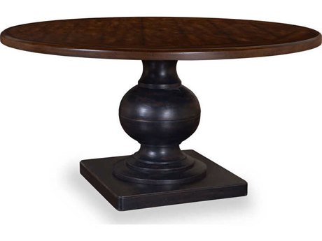 A.R.T. Furniture Whiskey Oak Weathered Black Barrel Oak 55'' Wide Round Dining Table