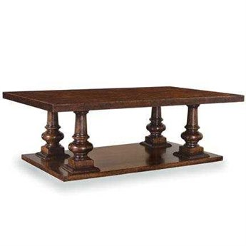 A.R.T. Furniture Whiskey Oak 58 x 35 Rectangular Pedestal Cocktail Table