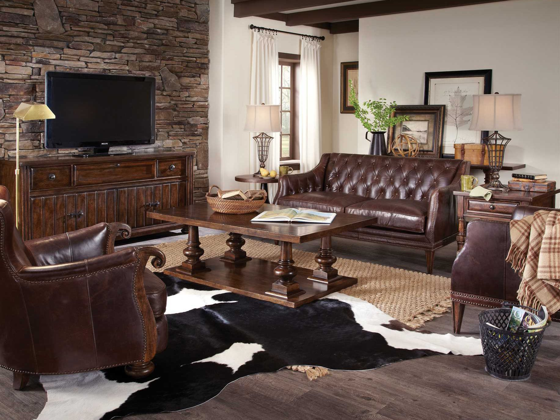 Living Room Furniture: A.R.T. Furniture Whiskey Oak Living Room Set