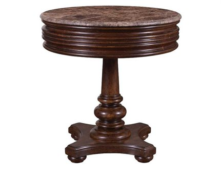 A.R.T. Furniture Whiskey Oak 28 Round End Table