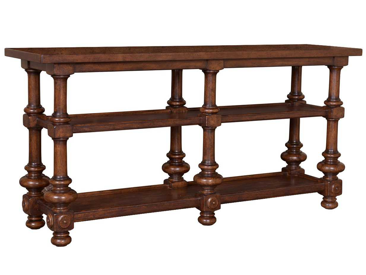 A r t furniture whiskey oak 72 x 15 rectangular sofa for Sofa table 72