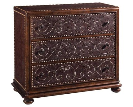 A.R.T. Furniture Whiskey Oak Leather Hall Chest