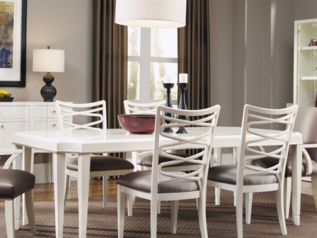 A.R.T. Furniture Cosmopolitan White 112''L x 46''W Rectangular Dining Table