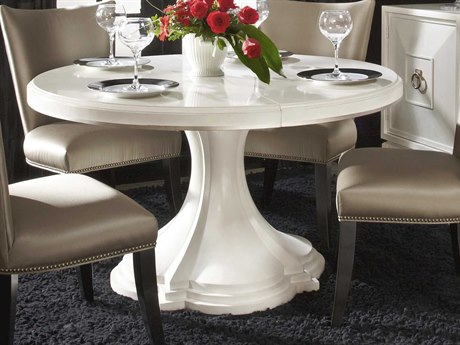 A.R.T. Furniture Cosmopolitan White 74'' Wide Round Dining Table