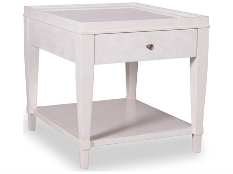 A.R.T. Furniture Cosmopolitan White 24''L x 28''W Rectangular End Table