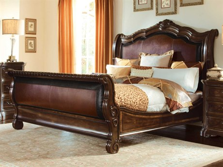 art furniture valencia dark oak queen size sleigh bed