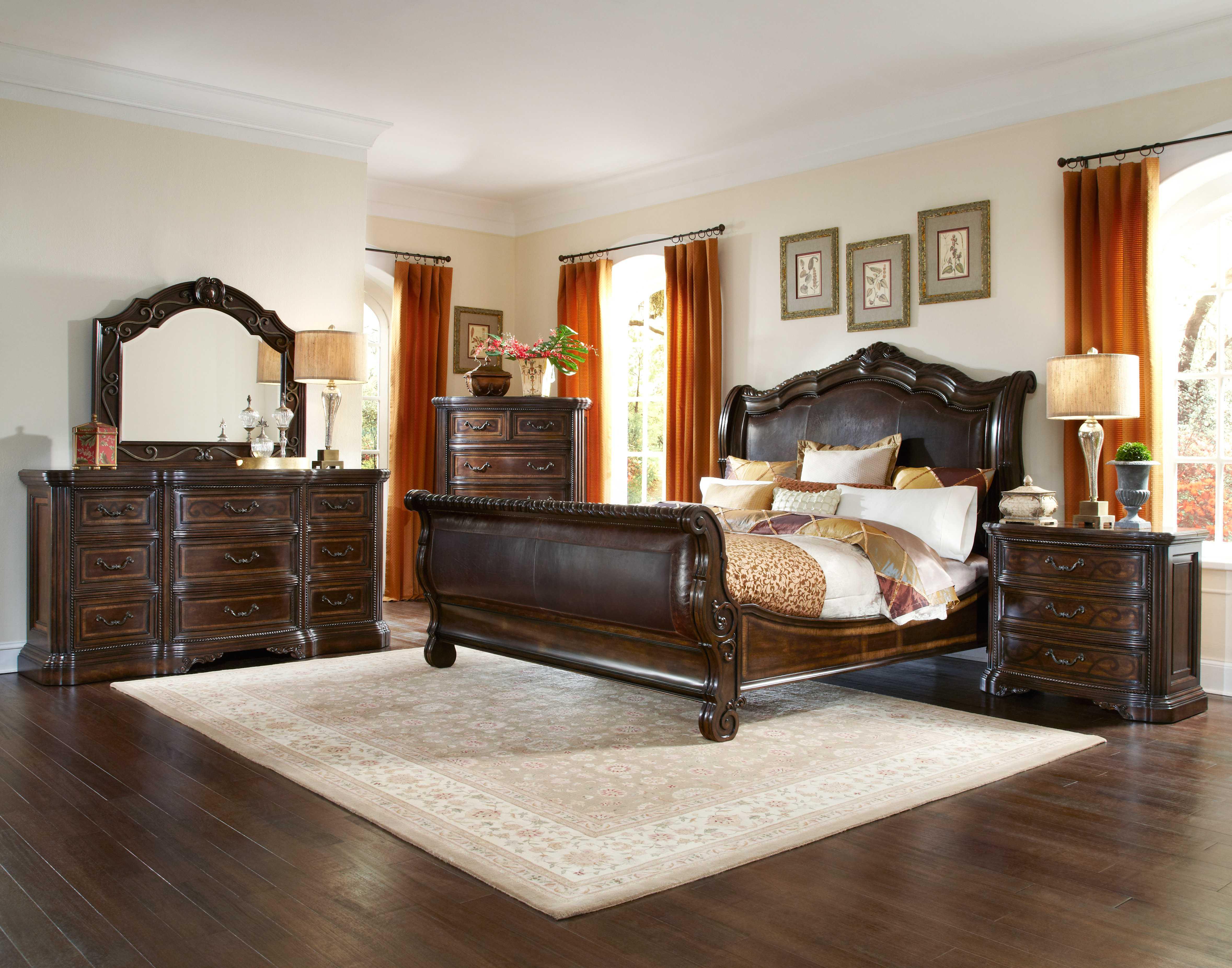 art furniture valencia dark oak california king size
