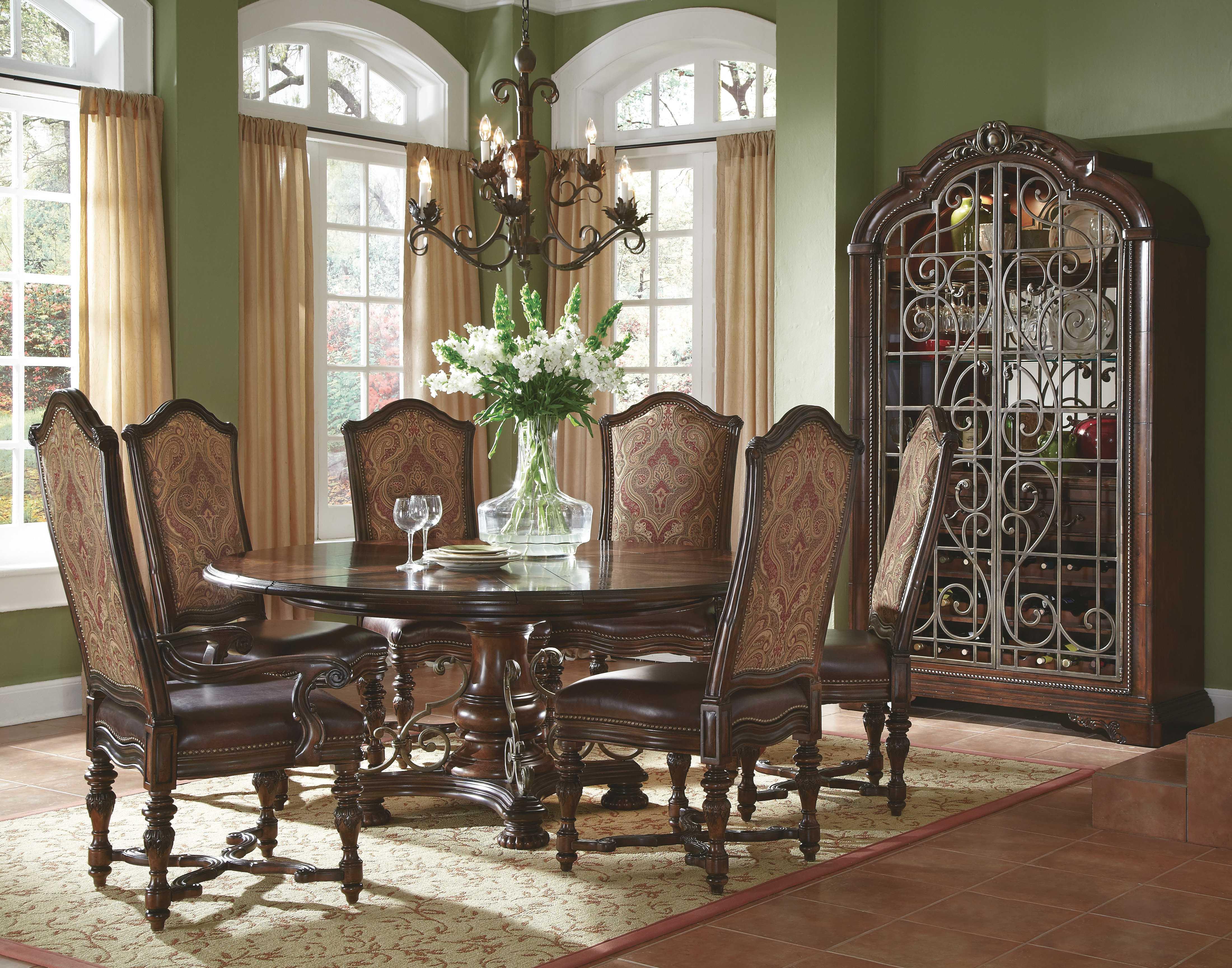 A R T Furniture Valencia Dark Oak 58 39 39 Wide Round Dining