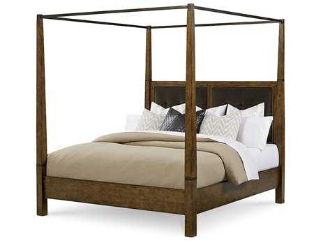 ART Furniture Echo Park Huston Arroyo Stippled Stain Eastern King Size Poster Bed with Canopy