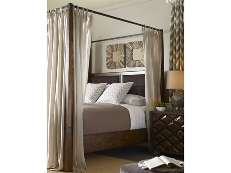 A.R.T. Furniture Echo Park Huston Arroyo Stippled Stain Eastern King Size Poster Bed with Canopy