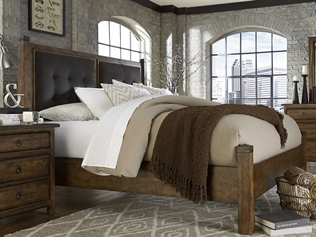 A.R.T. Furniture Echo Park Huston Arroyo Stippled Stain California King Size Poster Bed without Canopy