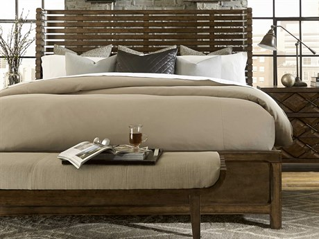 A.R.T. Furniture Echo Park Huston Arroyo Stippled Stain California King Size Panel Bed
