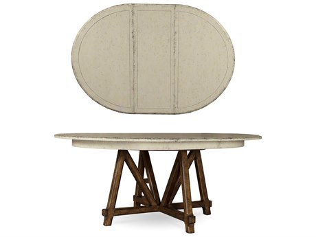 ART Furniture Echo Park Aged Canvas 78''L x 44''W Oval Dining Table