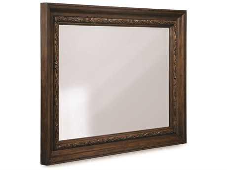 ART Furniture Chateaux Walnut 50''W x 40''H Rectangular Wall Mirror