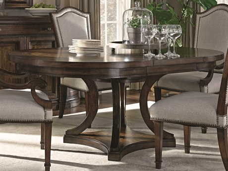 ART Furniture Chateaux Walnut 74''L x 36''W Oval Dining Table