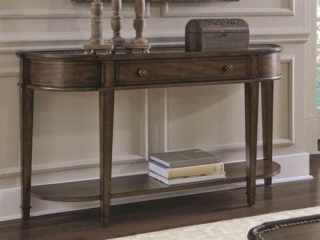 ART Furniture Chateaux Walnut 68''L x 38''W Demilune Console Table