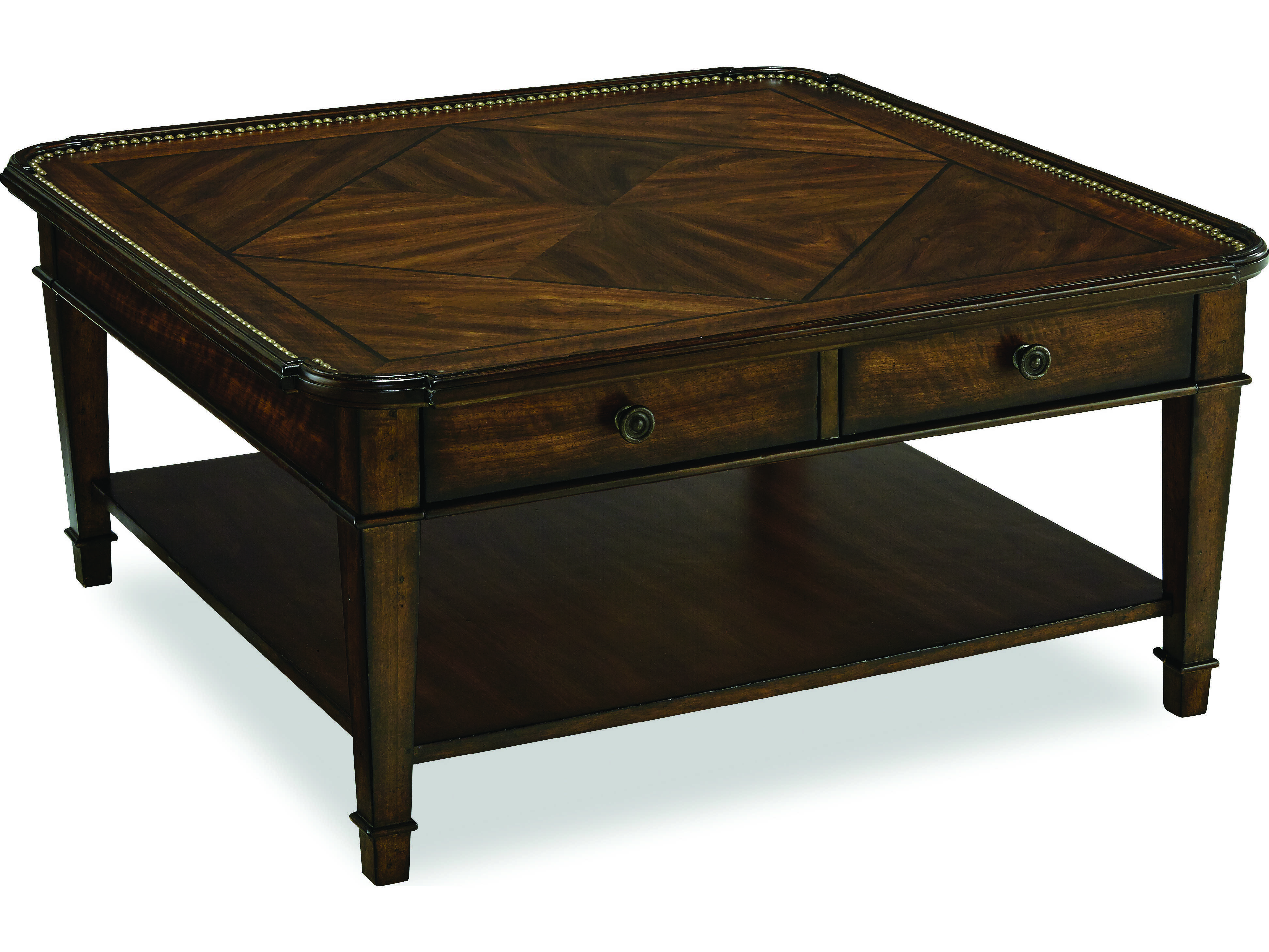 Art Furniture Chateaux Walnut 40 39 39 Wide Square Cocktail Table At2133101812