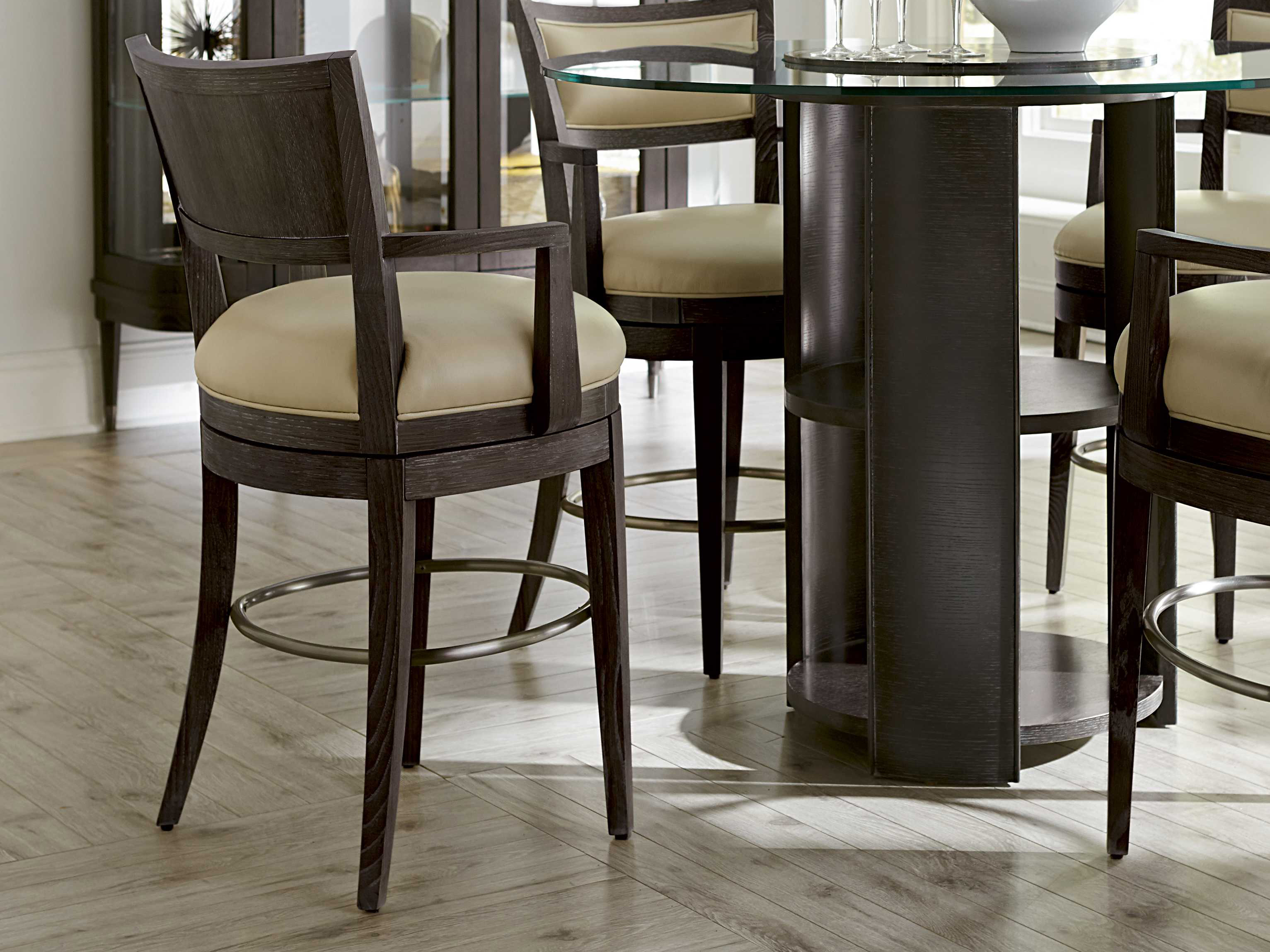 A r t furniture greenpoint oval dining table in coffee bean - A R T Furniture Greenpoint Coffee Bean Counter Arm Stool