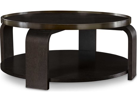 ... A.R.T. Furniture Greenpoint Coffee Bean 44u0027u0027 Wide Round Cocktail Table