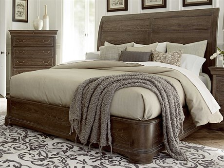 A.R.T. Furniture Saint Germain Coffee Queen Size Platform Sleigh Bed
