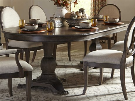 Oval Dining Tables Oval Kitchen Tables LuxeDecor - Black oval pedestal dining table