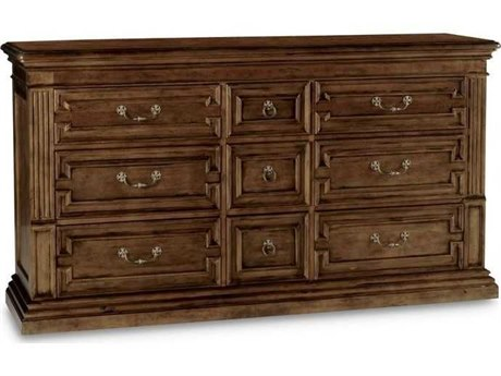 A.R.T. Furniture Collection One Jefferson Vintage Linen Nine-Drawers Triple Dresser