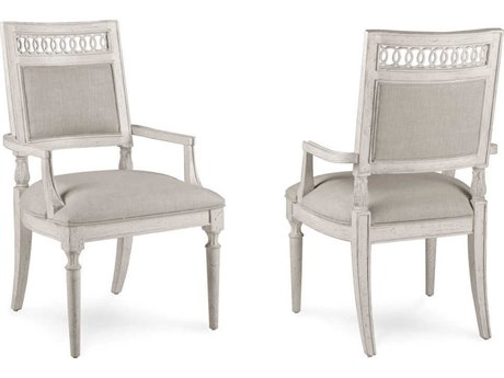 A.R.T. Furniture Collection One Jefferson Vintage Linen Dining Arm Chair (Sold as Set of 2)