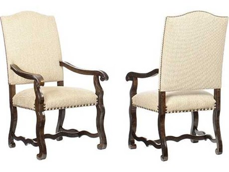 A.R.T. Furniture Collection One Harvest Tortoise & Espresso Dining Arm Chair (Sold as Set of 2)