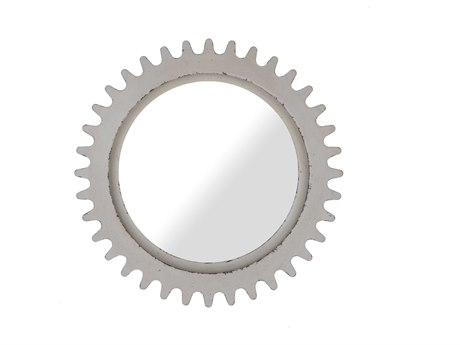 ART Furniture Epicenters Factory White 36'' Wide Round Wall Mirror