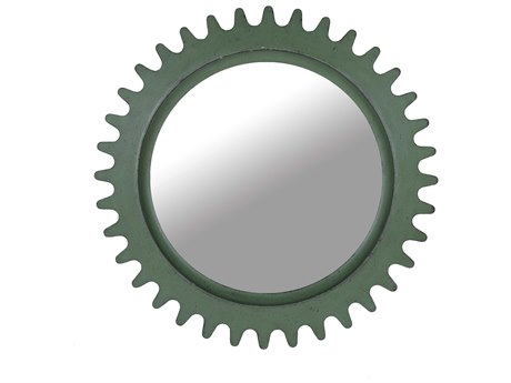 A.R.T. Furniture Epicenters Factory Green 36'' Wide Round Wall Mirror